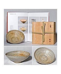 Rare Korean hana-Mishima Chawan - ex Museum 15th. century