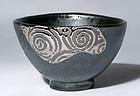 Silver Oribe Series Chawan by world-famous Yanagihara Mutsuo
