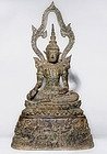 Huge Thai / Siam Bronze Buddha 19th century - 13 kg!!