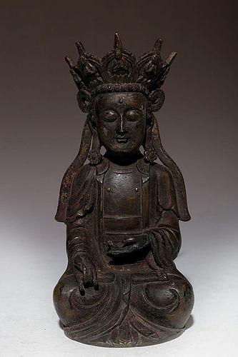 Early Qing Dynasty Bronze Buddha