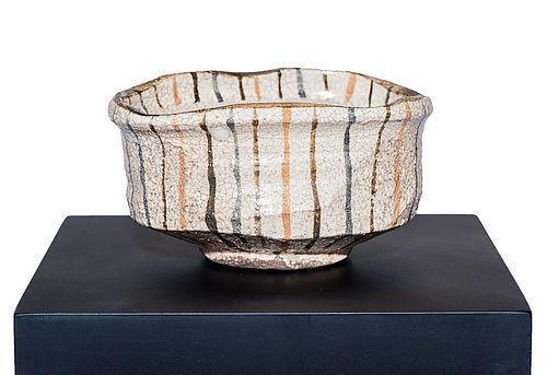Momoyama Period Mugi-de Oribe Chawan - one of a kind