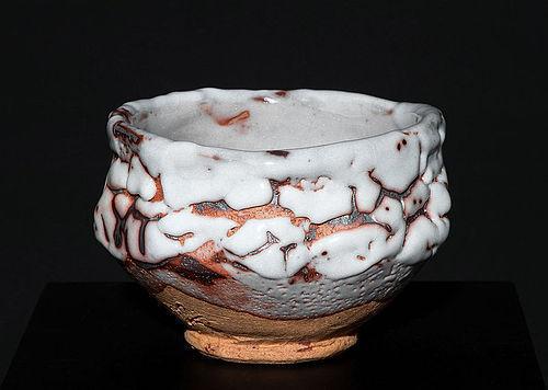 Museum Quality Shino Masterpiece Chawan by legendary Tokuro Kato