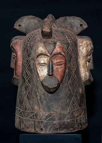 Large Fang Ngontang helmet mask from Gabon