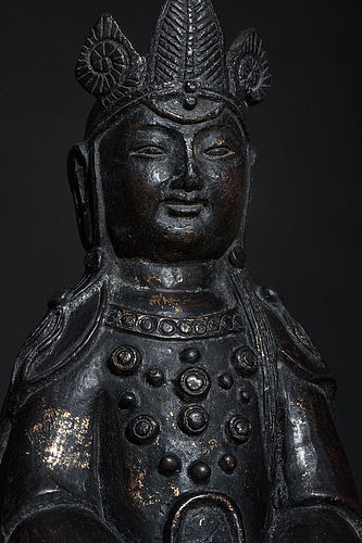 Chinese Buddha Statue 18th century with Qianlong Mark - 41 cm