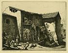 "William E. C. Morgan, etching, ""Italian Hill Farm"""