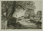 """Samuel Chamberlain, """"Barnegat Cottage, Marblehead"""""""
