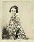 "Joseph Simpson, etching, ""Betty,"" 1927"