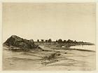 """Stephen Parrish, """"An Old Farm Near the Sea,"""" Cape Ann"""
