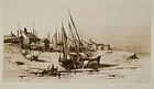 "Charles A. Platt, Etching, ""Provincial Fishing Village"""