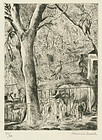 "Hermine David, etching, ""Le Zoo de Vincennes"""