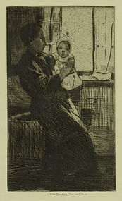 "William Lee Hankey, etching, ""Early Morning"""