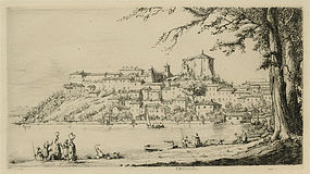 "Herman Armour Webster, etching, ""Capodimonte, Italy"""