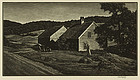 "Asa Cheffetz, wood engraving, ""Late Afternoon-VT"""