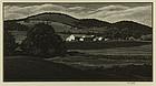 "Asa Cheffetz, Wood Engraving, ""Summertide (Vermont)"""