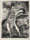 """Emil Ganso, Lithograph, """"Joyce (No. 2)"""" 1932"""