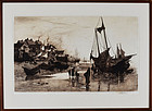 "Stephen Parrish, etching, ""Coast of New Brunswick 1882"""