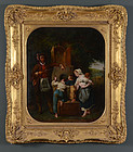 19th Century French School, oil on canvas, c. 1820s