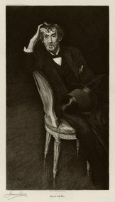 "Jacques Reich, etching, ""Portrait of Whistler,"" 1916"