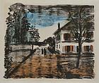 """Maurice De Vlaminck, Lithograph """"La Route a Valmondois"""""""