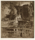 "Sir Frank Brangwyn, Etching, ""Port de Gand,"" 1906"