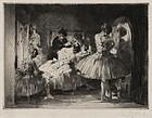 """Auguste Louis Brouet, Etching, """"Danseuse au Miroir"""""""