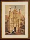 "Joseph Nash, Watercolor, ""The Country Manor"""