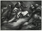 "Benton Spruance, Lithograph, ""Spinner Play,"" 1934"