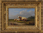 "Francois van Severdonck, ""Landscape with Sheep"" 1860"