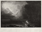 "Thomas Cole, Etching, ""Voyage of Life- Old Age"""