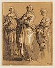 """Frederick Bloemaert, """"Three Women Lamenting"""""""