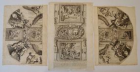 "Gerard Audran, Engraving, ""The Triumph of David"" 1668"