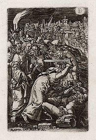 "Johannes Wierix, Engraving, ""Betrayal of Christ"""