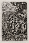 "Hieronymus Wierix, Engraving ""Moses and the Israelites"""