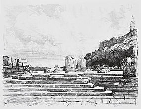 "Joseph Pennell, Lithograph, ""Eleusis"""
