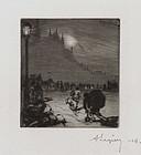 """Auguste-Louis Lepere, """"Au Coin du Pont-aux-Doubles"""""""