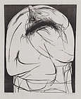 "Leonard Baskin, Wood Engraving, ""The Cry"" 1960"