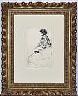 "James Abbott McNeill Whistler, Etching, ""Bibi Lalouette"", 1859"