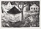 "Prentiss Taylor, Lithograph, ""Women's Club Carnival"", 1950"