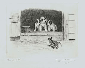 "Marguerite Kirmse, Etching, ""How About It?"""