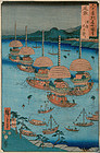 "Utagawa Hiroshige, ""Owari Province, Tsushima Tenno Festival"" 1853"