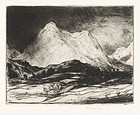 "David Y Cameron, Etching, ""Pap of Glencoe"" 1915"