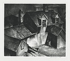 "Stow Wengenroth, Lithograph, ""Fisherman's House, Maine"" 1932"