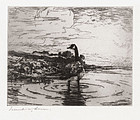 "Frank Benson, Etching, ""Canada Goose"", 1917"