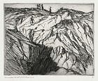 "Charles Herbert Woodbury, Etching, ""The Cliff"", c. 1930"