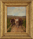 "George Arthur Hays, oil on canvas, ""Herding the Cows"" 1908"