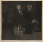 "William Strang, mezzotint, ""Evening"", 1891"