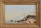 "Frank Rehn, oil on canvas, ""Mt Desert from Bar Island"" 1874"