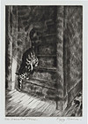 "Peggy Bacon, Etching, ""The Haunted House"" 1939"