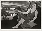 """Doel Reed, etching, """"Spring"""", 1941"""