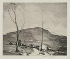 """Chauncey Foster Ryder, etching, """"Road to Bristol, Vermont"""" 1943"""